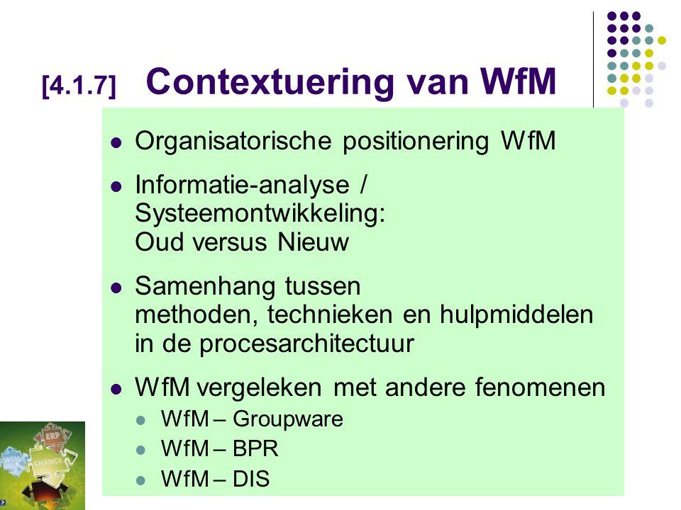 [4.1.7] Contextuering van WfM